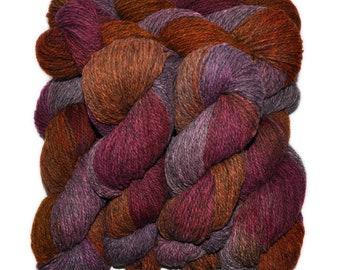 Hand dyed yarn - Alpaca / American wool yarn, Worsted weight, 240 yards - Epunamum