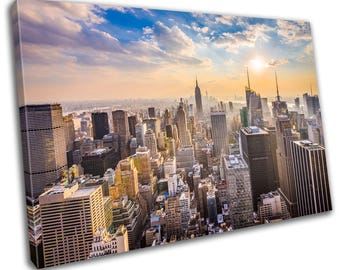 New York Skyline Cityscape Canvas Print Home Decor- Abstract Wall Art - Modern Prints - Ready To Hang