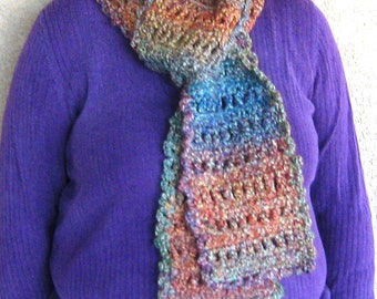 "Autumn Rainbow Scarf---""Buffy"""