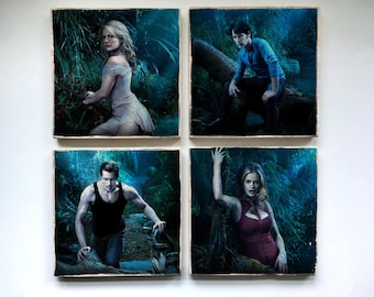 True Blood Stone Coasters - Set of 4, 6, 8, or 10-Sookie Stackhouse Eric Northman Bill Compton Sam Merlotte Pam Lafayette Tara Jason Jessica