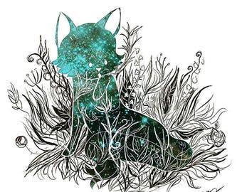 Art Print - Galaxy Cat