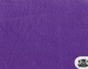 "Minky SOLID Purple Fabric / 58"" Wide / Sold by the Yard"