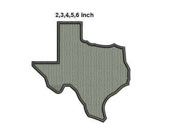 Texas Embroidery Design - 2,3,4,5,6 inch size instant dolwnload
