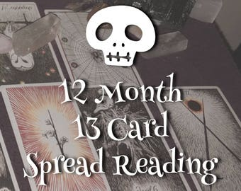 2018 12-Month 13-Card Tarot Reading