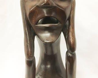Sasak Tribe Wood Carved Statue