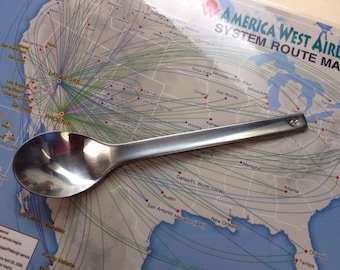 America West Airlines Spoon, AW Airlins serverwear tea spoon, America Airlines Memorabilia, Pilot Gift, Flight Attendant Gift, Airline Gift