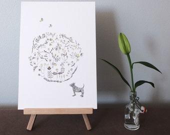 Bee's Knees - Original artwork / ink illustration by Nana Sakata