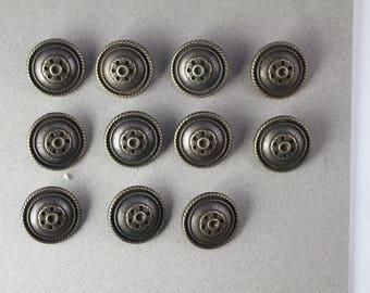 11 Vintage Metal Buttons - Vintage Sets