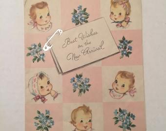 Vintage used Baby card