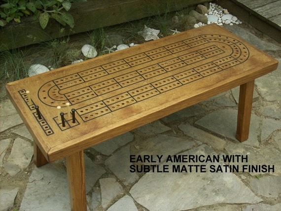 Game Table Cribbage Board Coffee Table Early American Minwax
