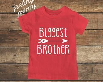 Biggest Brother Shirt Big Boys Shirt New Brother shirt Red Big Brother Shirt