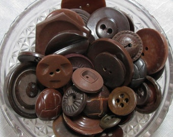 Lot of Brown or Neutral colored buttons