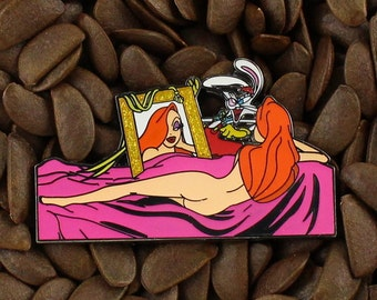 Jessica Rabbit Pins Roger Gold Mirror Pin
