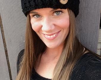Crochet Black Ear Warmer
