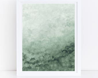 Green Abstract Srt, Printable Abstract Wall Art, Green Watercolor Print, Green Print, Watercolor Abstract Art, Modern Wall Art, Green Decor