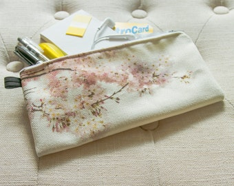 Cherry Blossom Against the Clouds - Carry-all Pouch