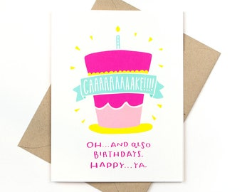 funny birthday card - cake!!!