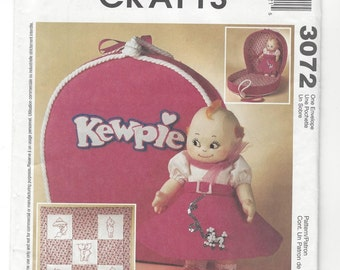 McCall's Crafts 3072 Kewpie Doll Clothes and Accessories sewing pattern c. 2000 UNCUT