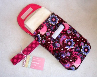Bird Song Diaper Clutch with Wrist Strap