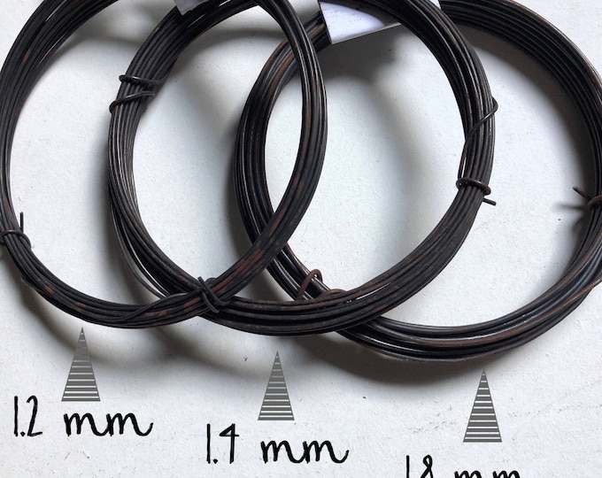 Coil of steel black  wire, nealed diameter 1.2 mm / 1.4 mm / 1.8 mm ( ga 16 / 15/ 13 )  - 10 mètres ( 32.8 ft)