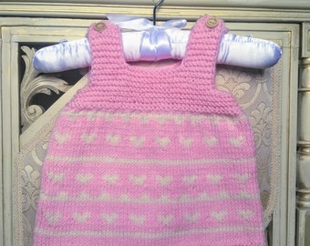 Newborn baby Outfit, Knitted baby girl dress, Baby girl dress, Infant Knit Dress