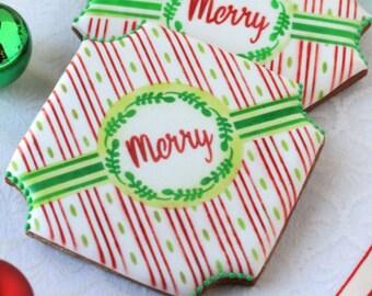 Merry Prettier Plaques Cookie Stencil Set 5 Pc by Julia Usher