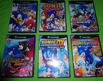 EMPTY CASES! Sonic Collection Adventure DX: Director's Cut Nintendo GameCube