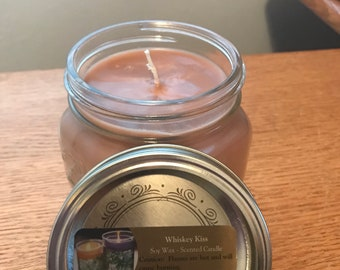 Whiskey Scented candle.  16oz jar