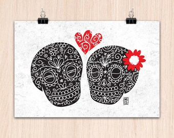 "9""x12"" Amor Eterno! (Color Print)"