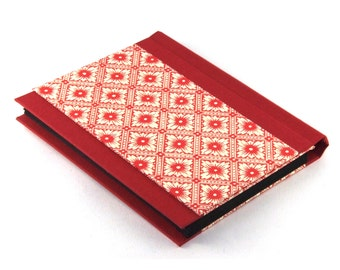 Accordion Folder - Memo Pocket red Java Flowers