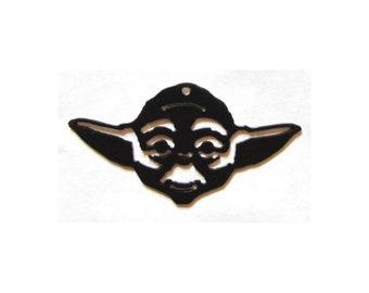 METAL Star Wars YODA PENDANT or Key Chain Yoda Star Wars sign Necklace Ball Chain or Key Ring star warsyoda star wars gift Yoda art Yoda Art
