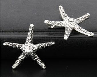20pcs Antique Silver Starfish Charms Pendant A2671
