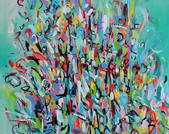 "Custom Abstracts 30"" x 36"""