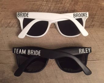 Team Bride Sunglasses - Bachelorette Party Sunglasses - Custom Sunglasses - Personalized Sunglasses - Bride and Team Bride Sunglasses