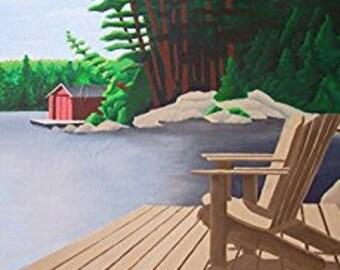 Neva's Boat House Print