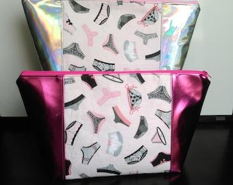 Panties Make-up Bag, Cosmetic Bag, Toiletry Bag (Read-to-ship)