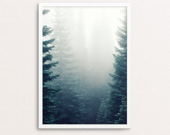 Tree Print, Forest Wall Art, Trees Art, Nature Prints, Tree Photography, Forest Print, Nature Photography, Nature art, Forest, Foggy, Tree