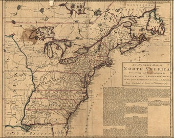 Poster, Many Sizes Available; Map Of Colonies Pre United States Of America 1763