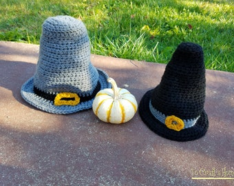 Pilgrim Hat (Gray or Black)-Thanksgiving Hats- Fall Hats