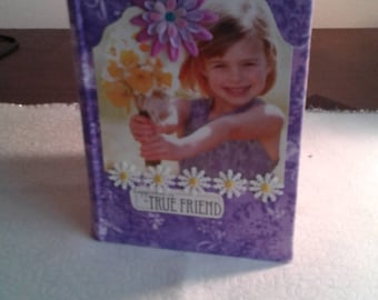 Pretty girl fabric covered journal