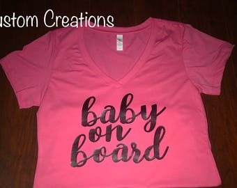 Personalized Pregnancy Announcement Shirt