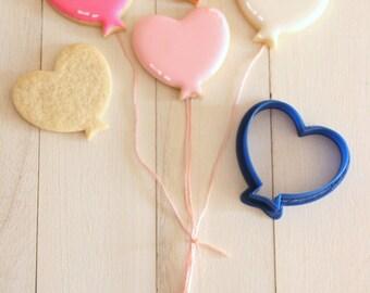 Heart balloon cookie cutter