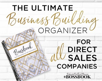 BOSSBOOK Business Building Organizer for ALL Direct Sales Companies