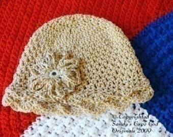 Organic Cotton Sunhat Infants to Adults Crochet Pattern PDF 133