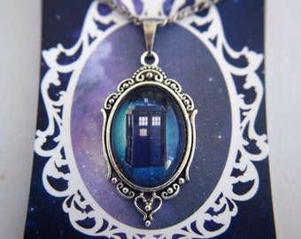 Doctor Who inspired TARDIS necklace
