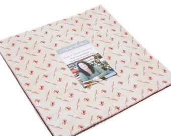 """NEW! Needle & Thread Gatherings - Moda - Layer Cake (42) 10"""" squares  - by Primitive Gatherings"""