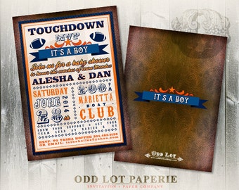 Football Baby Shower Invitation, Boy Baby Shower Invite, Football Party Invite, Super Bowl Party Invite, DIY Printable Football Invitation