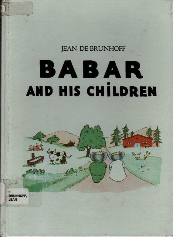 Babar and His Children + Jean de Brunhoff + 1966 + Vintage Kids Book
