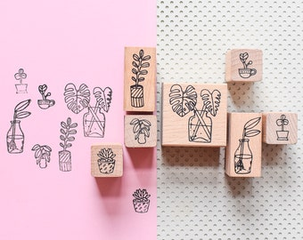 Plant stamps, Monstera stamps, succulent stamp, plant stamp, succulent stamps, bullet journal, bujo stamps, cactus stamp, stamp set
