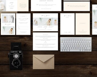 SALE!! Boudoir Photographer Marketing Set - Digital Photoshop Designs - Mini Session Templates - Printable Pricing Guides & Business Cards